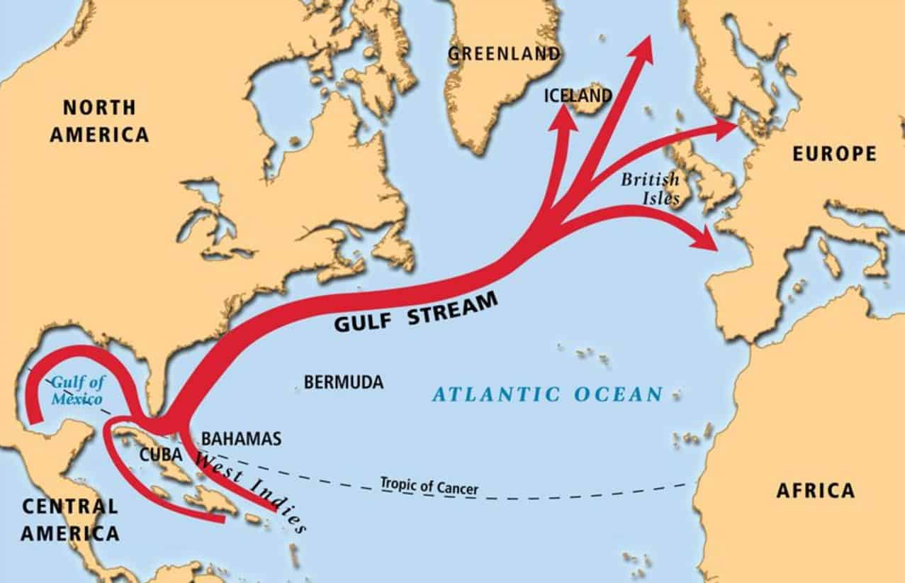 Corriente Cálida del Golfo (Gulf Stream)