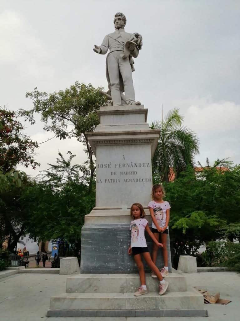 Posando con Jose Fernandez en Cartagena de Indias.