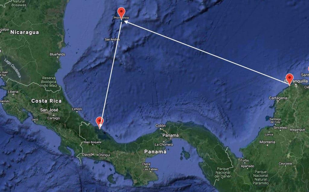 Nuestra  Travesía desde Colombia a Panamá.