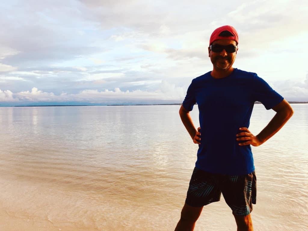 El capi posando en Playa Azul.