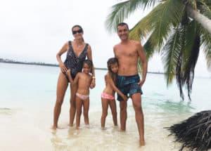 Familia Saramia en San Blas.